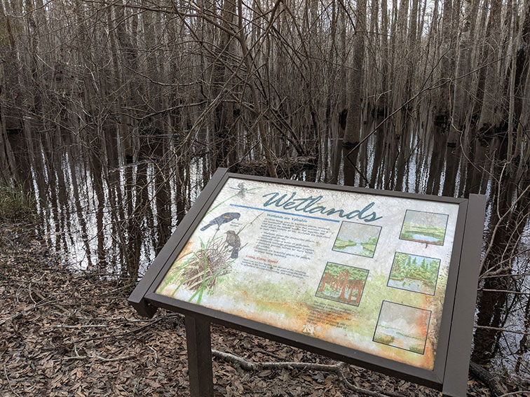 Trail interpretation sign