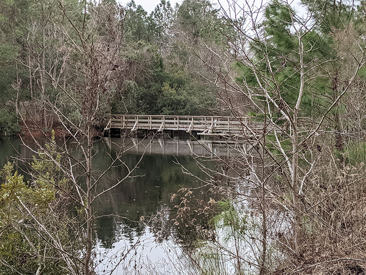 Red trail fishing bridge